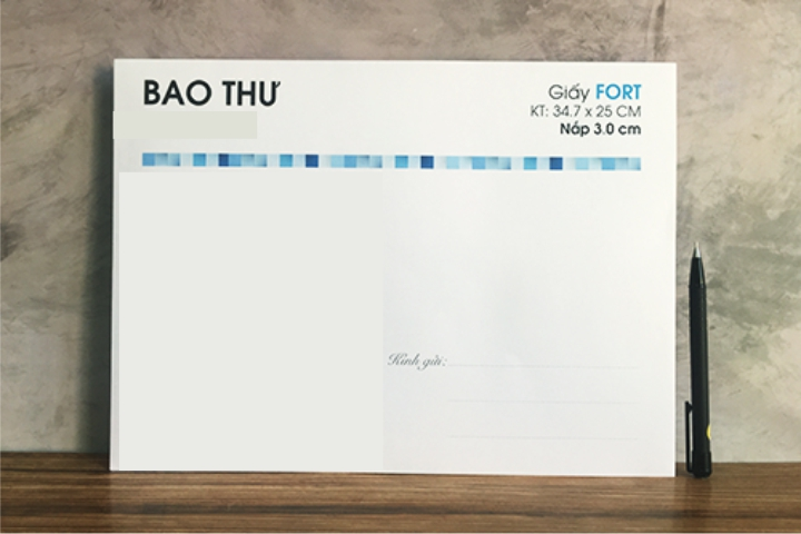 In Bao Thư A4 giấy fort 120gsm, In offset