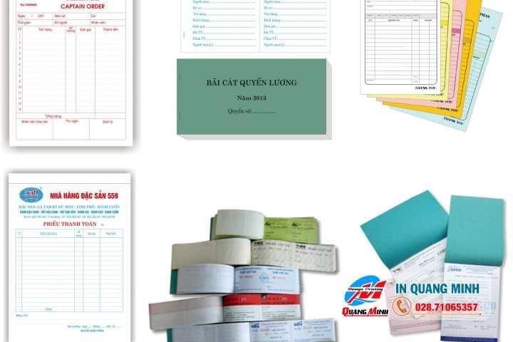 biểu mẫu giấy carbonless như phiếu thu giấy carbonless